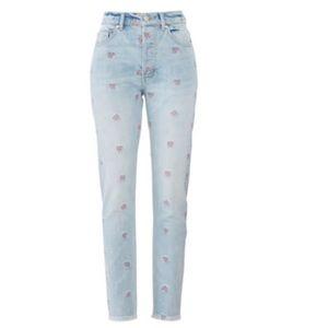 La Vie Rebecca Taylor High Rise Tapered Jeans
